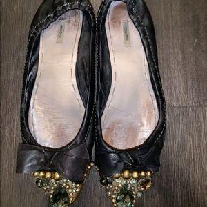 Miu Miu Black Cap Toe Shoe 39.5